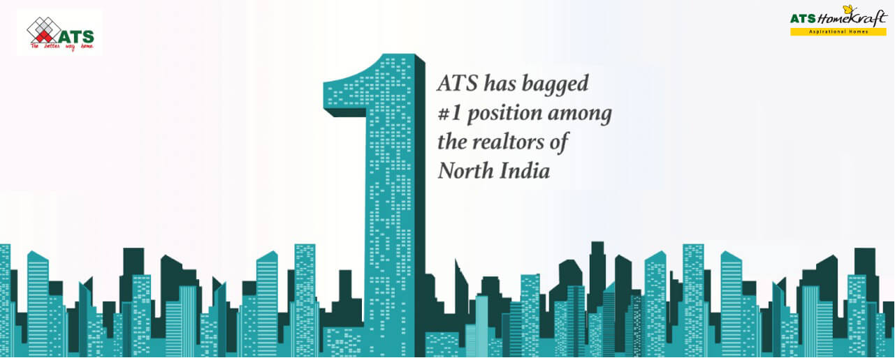 ATS ahs begged no. 1 postion in realtors in North India